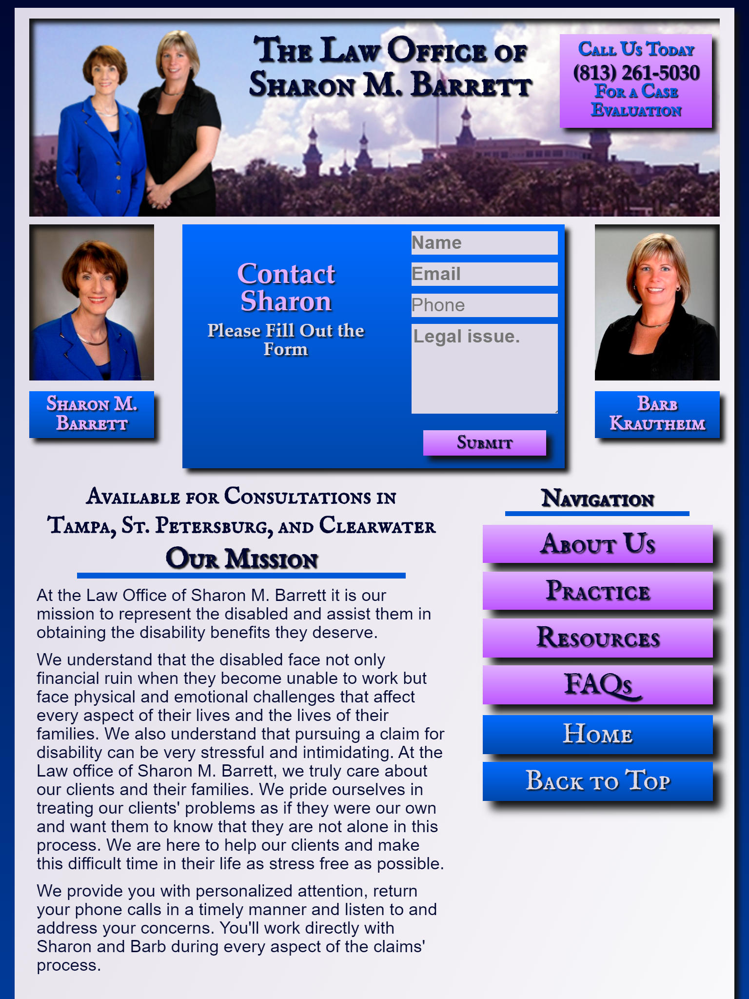 Tablet Screenshot of Law Firm Website developed for Enix Networks